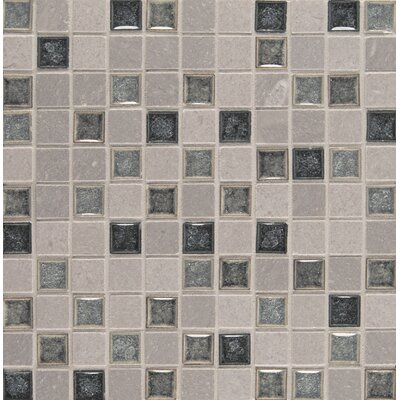 "Kisment 1"" x 1"" Glass Mosaic Tile in Fate"