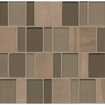 "Remy Glass 12"" x 12"" Stone/Glass Mosaic Brick Blends in Bellingham"