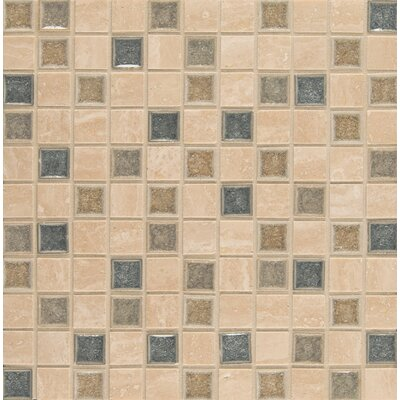 "Kisment 1"" x 1"" Glass Mosaic Tile in Felicity"