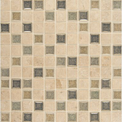 "Kismet 1"" x 1"" Glass Mosaic Tile in Glee"
