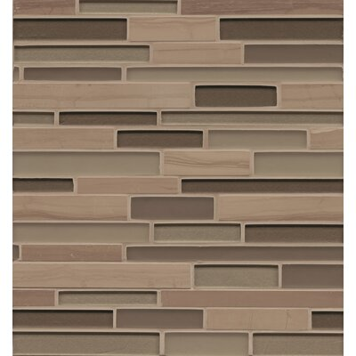 "Remy Glass 12"" x 13"" Stone/Glass Mosaic Random Interlocking Blends in Bellingham"