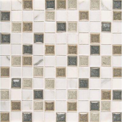 "Kismet 1"" x 1"" Glass Mosaic Tile in Heaven"