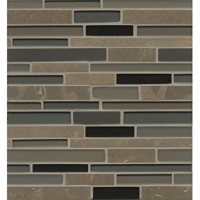 "Remy Glass 12"" x 13"" Stone/Glass Mosaic Random Interlocking Blends in Ellensburg"