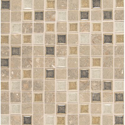 "Kismet 1"" x 1"" Glass Mosaic Tile in Joy"