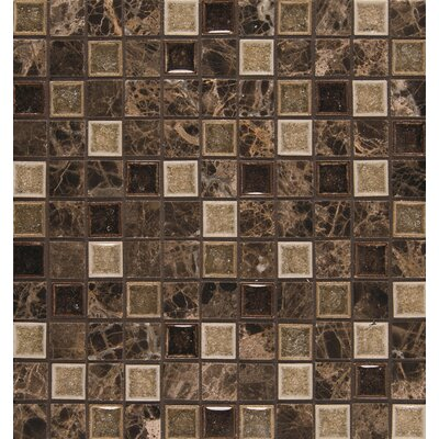 "Kismet 1"" x 1"" Glass Mosaic Tile in Karma"