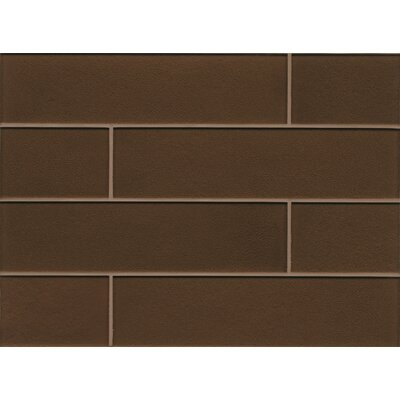 "Remy Glass 4"" x 16"" Glass Field Tile Gloss in Bronze"
