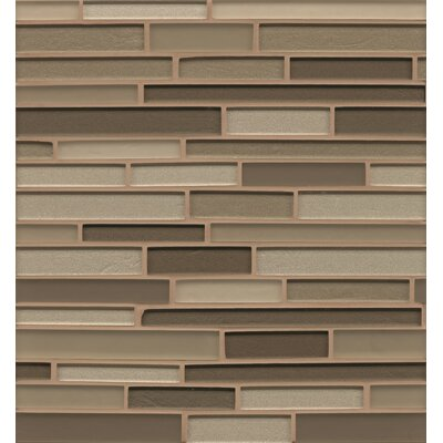 "Remy Glass 12"" x 13"" Mosaic Random Interlocking Blends Tile in Rockford"