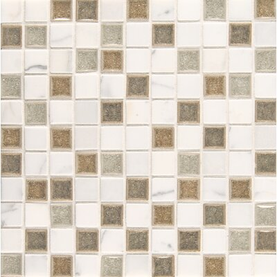 "Kisment 1"" x 1"" Glass Mosaic Tile in Zen"