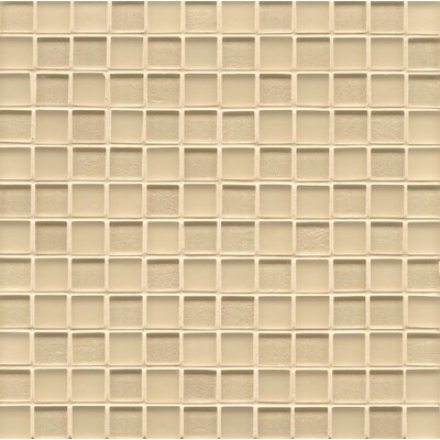"Remy Glass 12"" x 12"" Mosaic 1x1 Mesh Mounted Tile in Blonde"