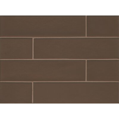 "Remy Glass 4"" x 16"" Glass Field Tile Matte in Bronze"