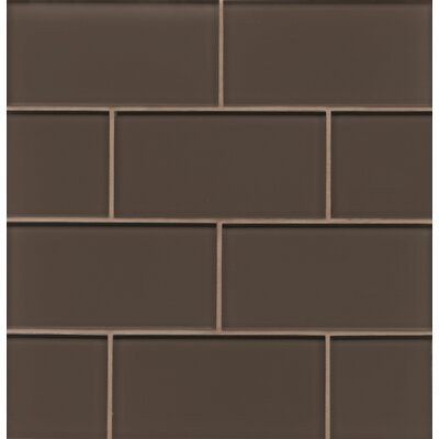 "Hamptons 3"" x 6"" Glass Subway Tile in Glossy Cliff"