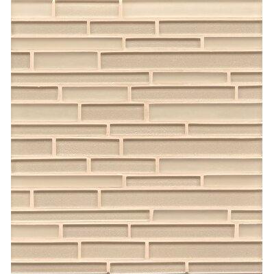 Remy Glass Mosaic Random Interlocking Tile in Blonde