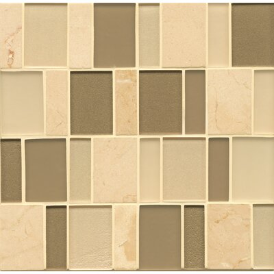 Remy Glass Mosaic Brick Blends Tile in Townsend