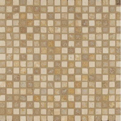 "0.68"" x 0.68"" Travertine Mosaic Tile in Beige"