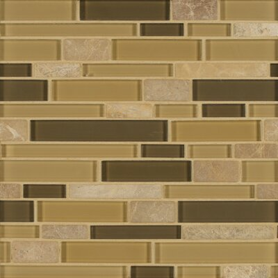 Tiffany Random Sized Glass Mosaic Tile in Brown