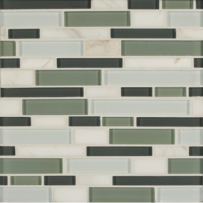 Tiffany Random Sized Glass Mosaic Tile in Green