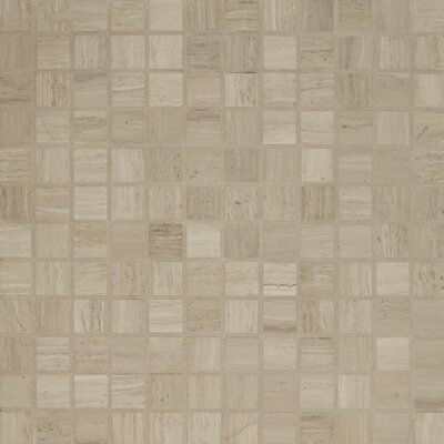 "Maison 1"" x 1"" Marble Mosaic Tile in Ashen Grey"