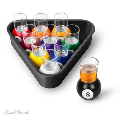 Final Touch Pool Shot Glass Set