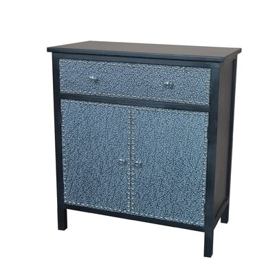 Ritz Accent Cabinet Color: Black / Silver