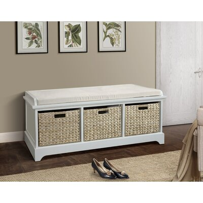 Fleming Wooden Bench Color: Cream
