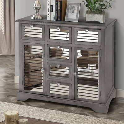 Summit Mirrored 6 Drawer Accent Cabinet