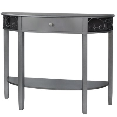 Sutton Console Table Color: Antique Silver