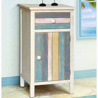 Seaside 1 Drawer and 1 Door Accent Cabinet