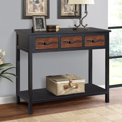 Albertine Console Table Color: Espresso