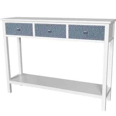Ritz Console Table Color: Cream / Silver