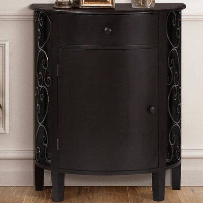 Sutton 1 Door 1 Drawer Accent Cabinet Color: Espresso