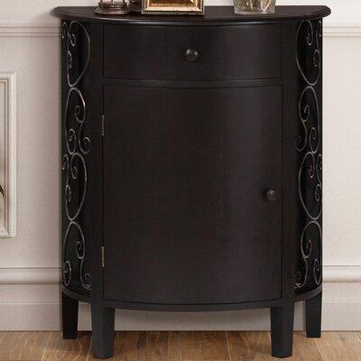 Sutton 1 Door 1 Drawer Accent Cabinet Color: Espresso
