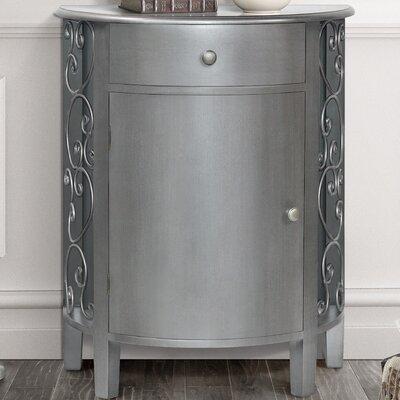 Sutton 1 Door 1 Drawer Accent Cabinet Color: Antique Silver