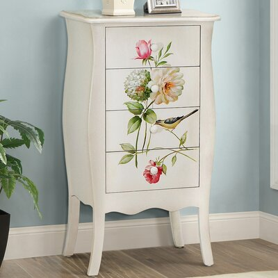 Sanger Hand-Painted 4 Drawer Accent Chest