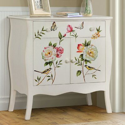 Sanger Hand-Painted 1 Drawer Accent Cabinet Color: Cream