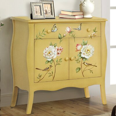 Sanger Hand-Painted 1 Drawer Accent Cabinet Color: Soft Yellow