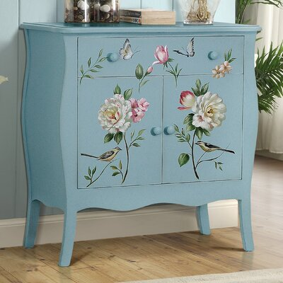 Sanger Hand-Painted 1 Drawer Accent Cabinet Color: Soft Blue