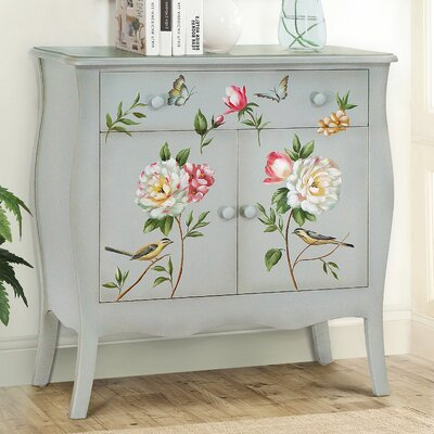 Sanger Hand-Painted 1 Drawer Accent Cabinet Color: Soft Green