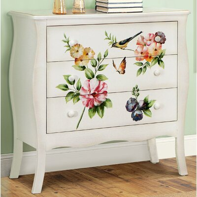 Sanger Hand-Painted 3 Drawer Accent Chest