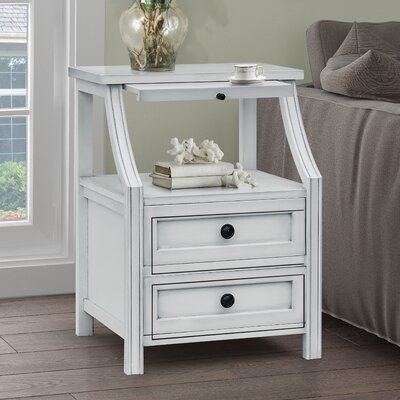 Gregorio 2 Drawers Accent Chest Color: Beige