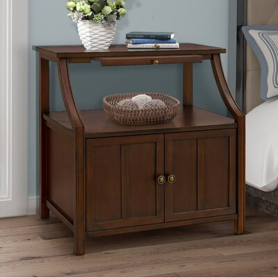 Gregorio 2 Door Accent Cabinet Color: Walnut