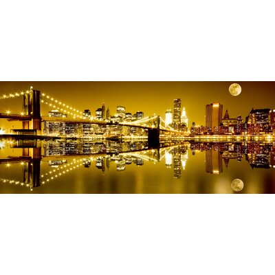 Innova Golden New York' Tempered Glass Photographic Print