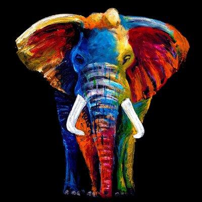 Innova Majestic Elephant Tempered Glass Graphic Art