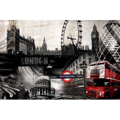 Innova London Collage Vintage Advertisement on Canvas