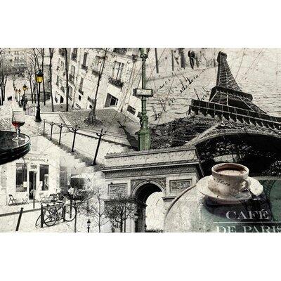 Innova Paris Collage Vintage Advertisement on Canvas