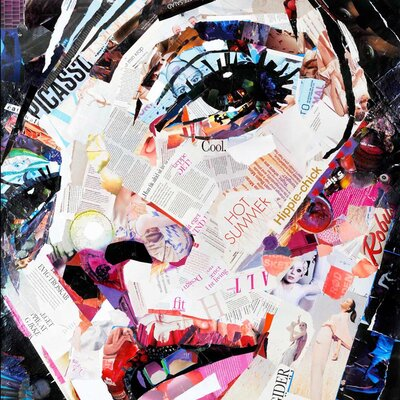 Innova She's Got the Look I Collage Graphic Art on Canvas