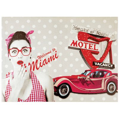 Innova Welcome to Miami Vintage Advertisement on Canvas