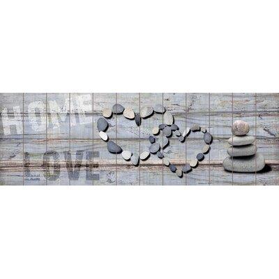 Innova Pebble Stack Home Love Graphic Art Plaque