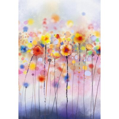 Innova Watercolour Flowers Graphic Art Wrapped on Canvas