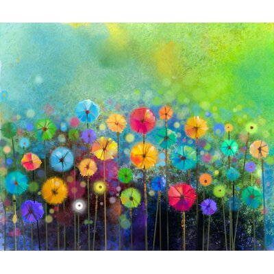 Innova Flower Graphic Art Wrapped on Canvas