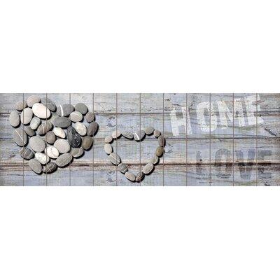 Innova Pebble Hearts Home Love Graphic Art Plaque